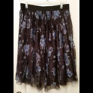 NWOT Torrid Size 2 Floral Tulle Midi Skirt